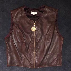 Brown Leather Vest